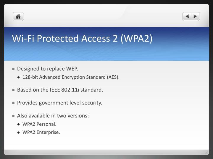 Wi-Fi Protected Access 2 (WPA2)