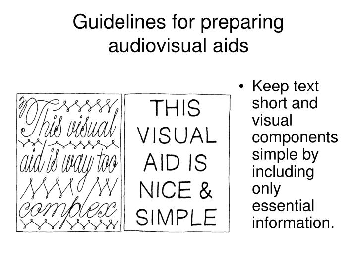 Guidelines for preparing audiovisual aids