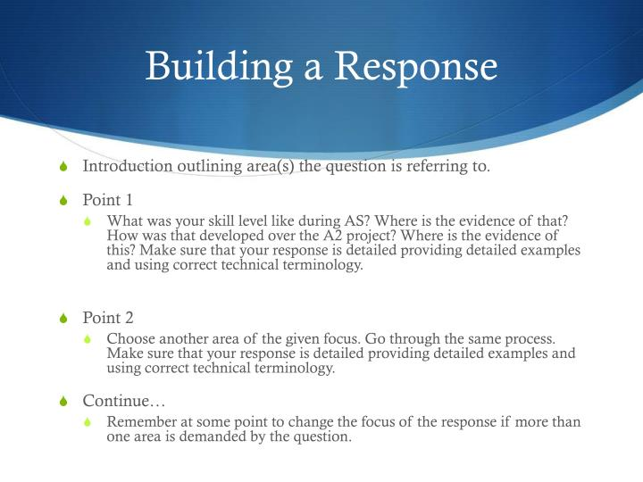 Building a Response