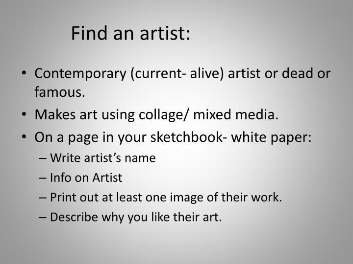 Find an artist:
