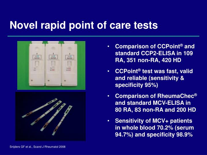 Novel rapid point of care tests
