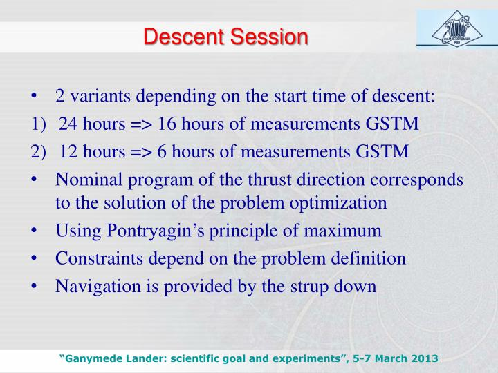 Descent Session