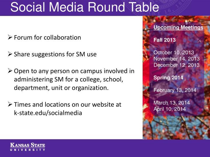 Social Media Round Table