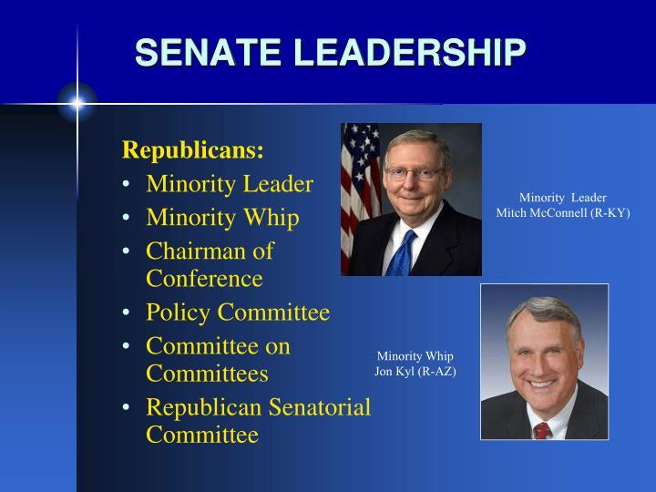 SENATE LEADERSHIP