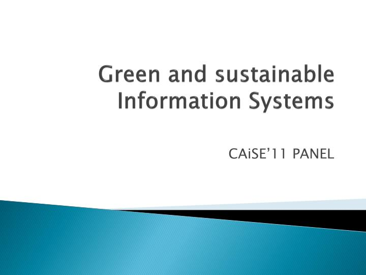 green and sustainable information systems n.