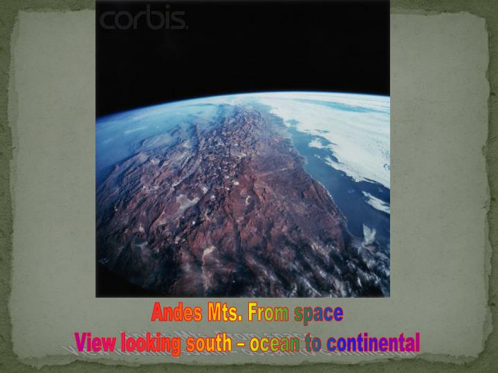 Andes Mts. From space