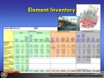 element inventory