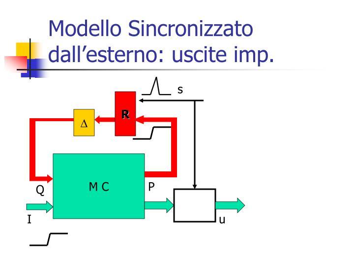 Modello Sincronizzato dall'esterno: uscite imp.