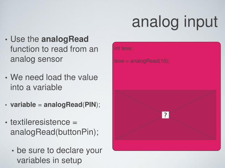 analog input