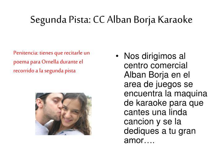 Segunda pista cc alban borja karaoke