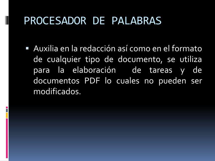 PROCESADOR DE PALABRAS