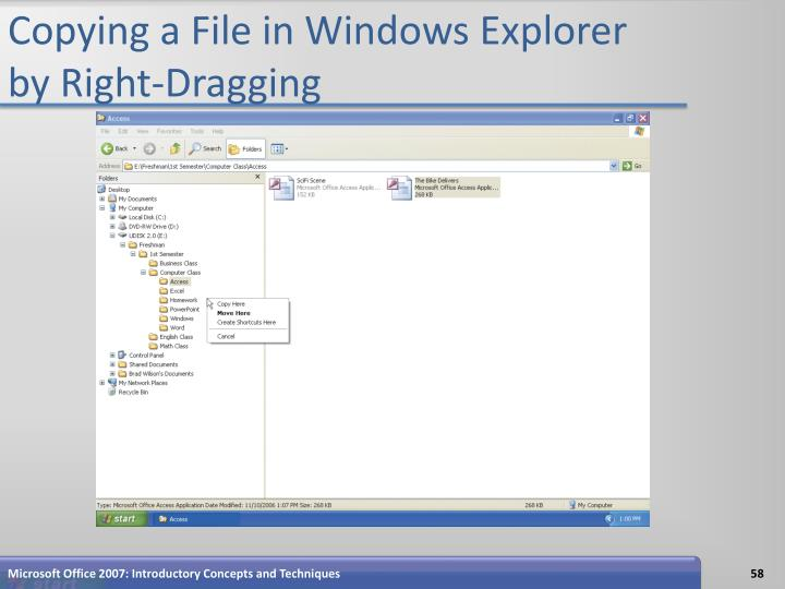 Copying a File in Windows Explorer