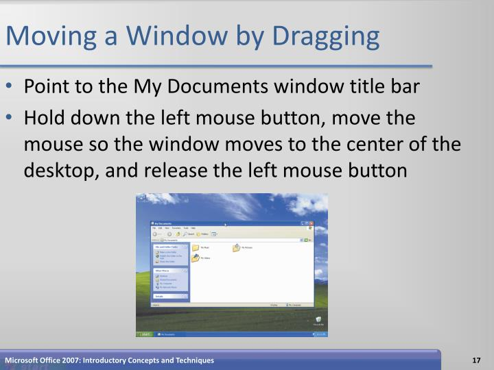 Moving a Window by Dragging