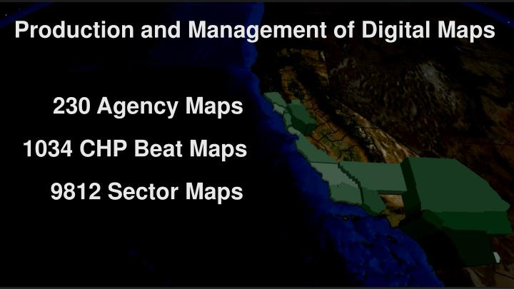 Production and Management of Digital Maps