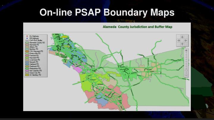 On-line PSAP Boundary Maps