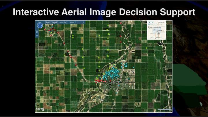 Interactive Aerial Image Decision Support