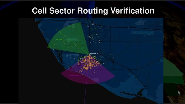 Cell Sector Routing Verification