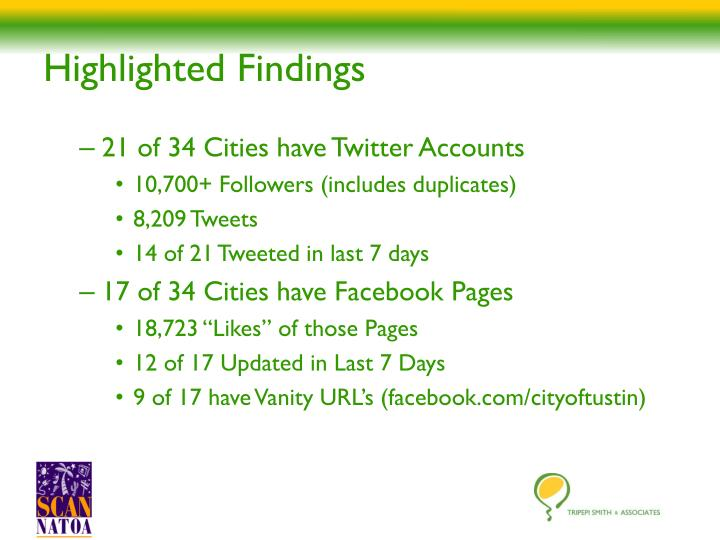 Highlighted Findings