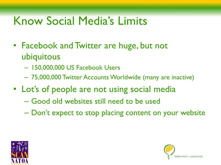 Know Social Media's Limits