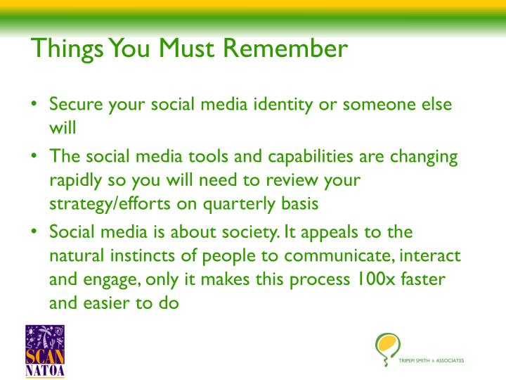 Things You Must Remember