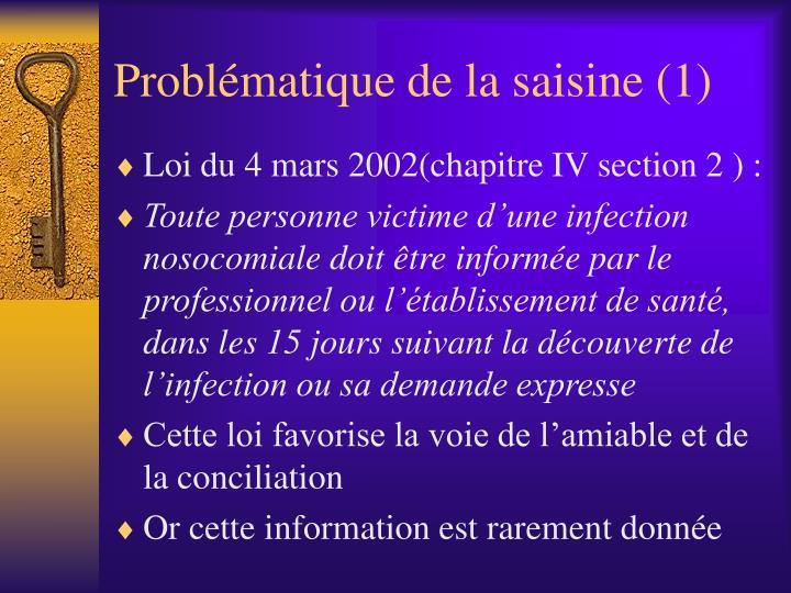 Probl matique de la saisine 1