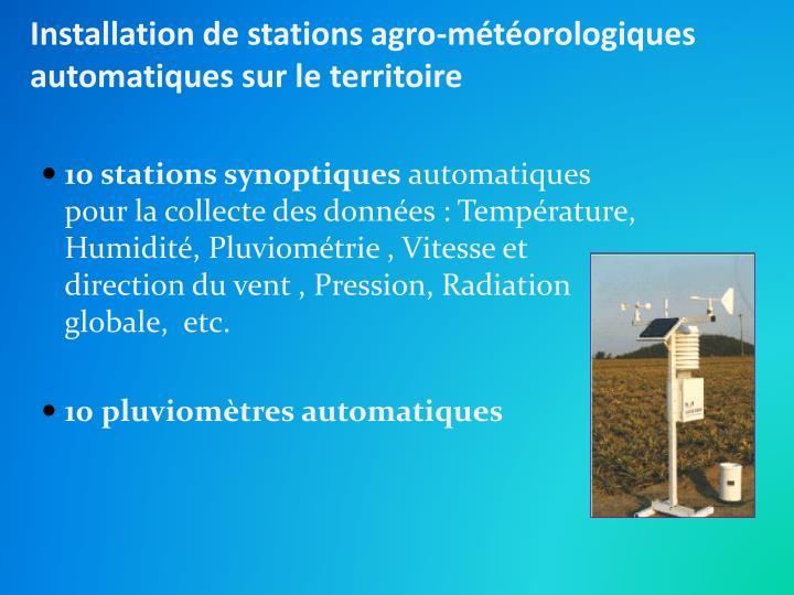 Installation de stations agro-météorologiques automatiques sur le territoire