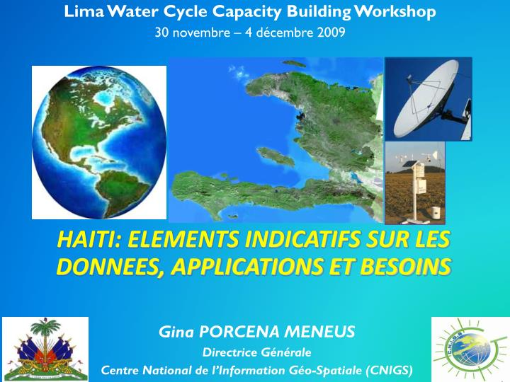 Lima Water Cycle Capacity Building Workshop
