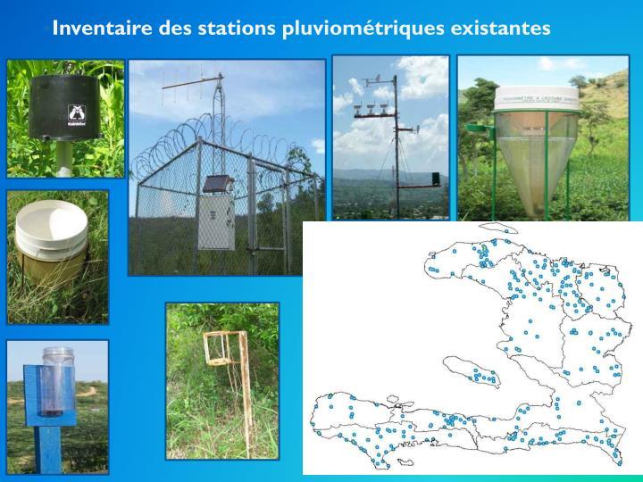 Inventaire des stations pluviométriques existantes