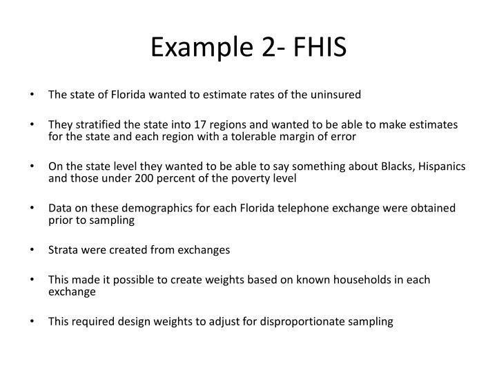 Example 2- FHIS