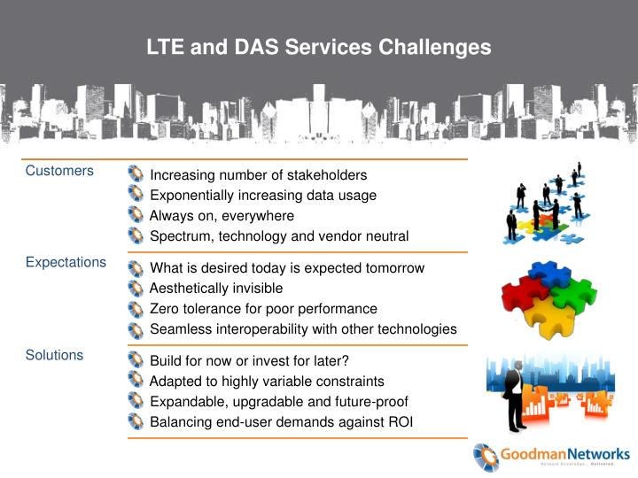 Lte and das services challenges
