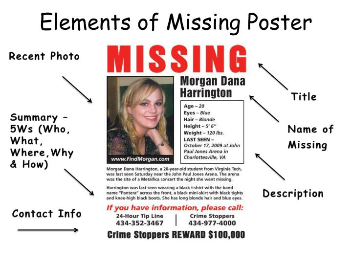 Elements of Missing Poster