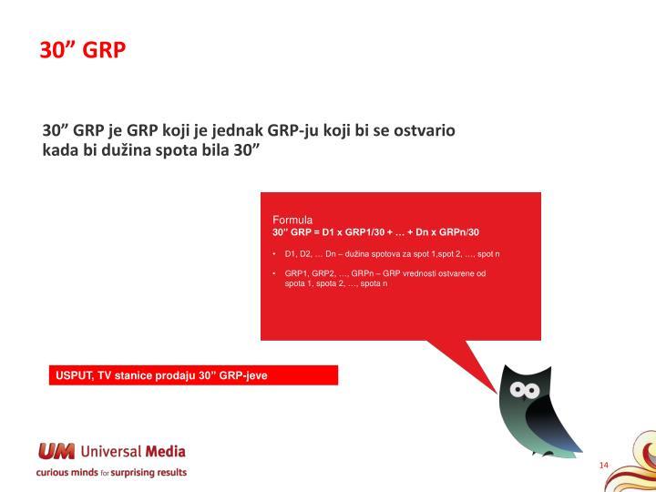 "30"" GRP"