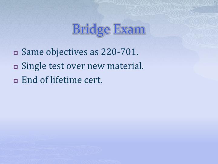 Bridge Exam