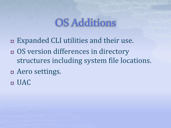 OS Additions