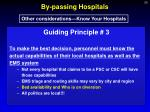 by passing hospitals