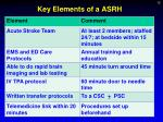 key elements of a asrh