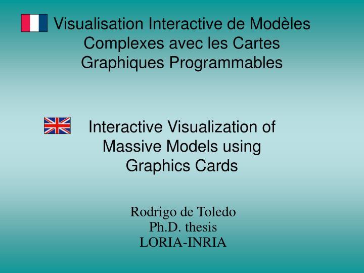 Visualisation Interactive de Modèles Complexes avec les Cartes