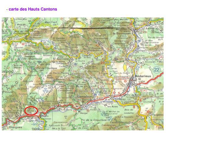 carte des Hauts Cantons