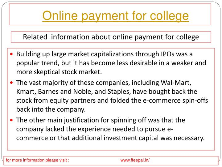 online payment for college n.