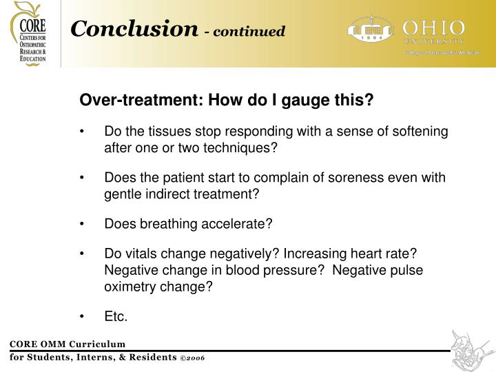 Over-treatment: How do I gauge this?