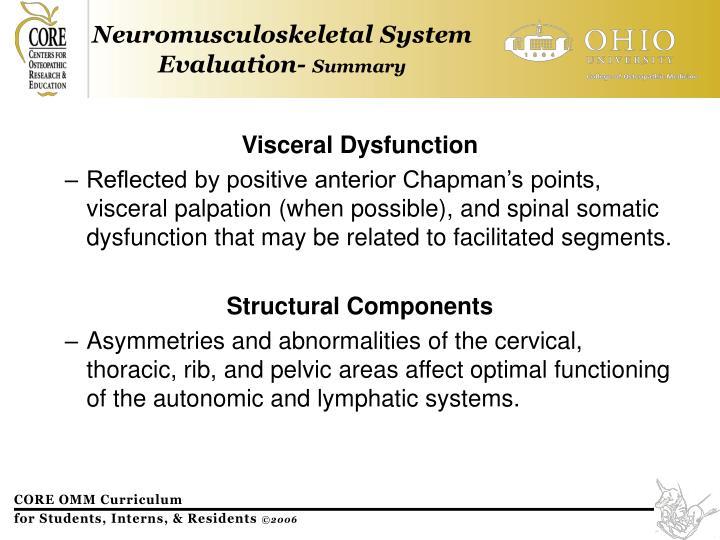 Visceral Dysfunction