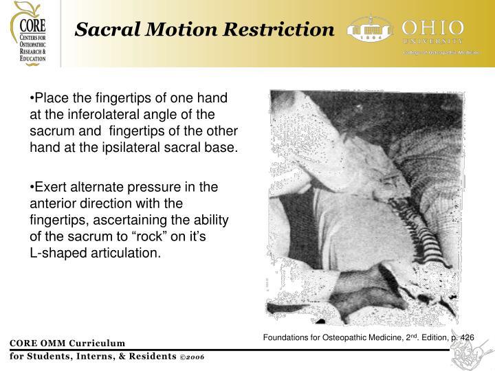 Sacral Motion Restriction