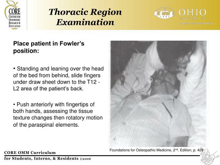 Thoracic Region Examination