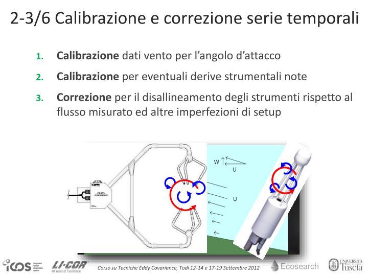 2-3/6 Calibrazione e correzione serie temporali