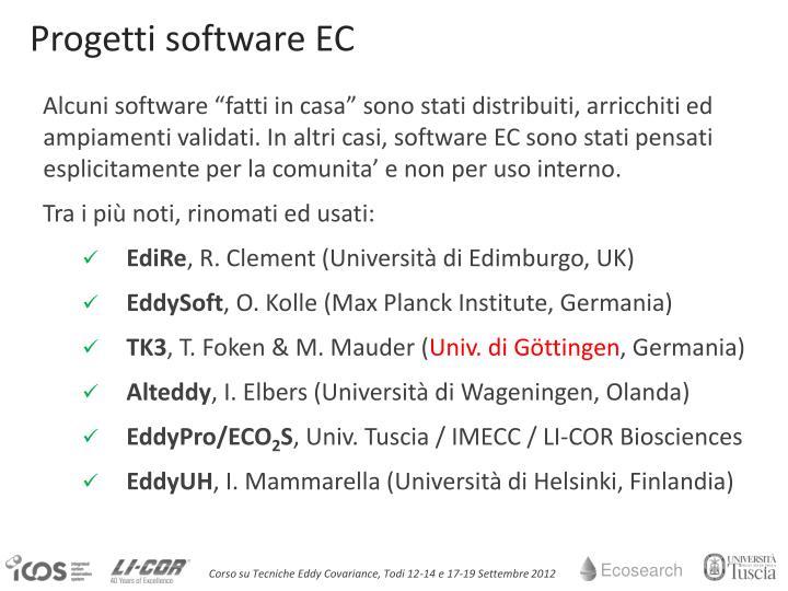 Progetti software EC
