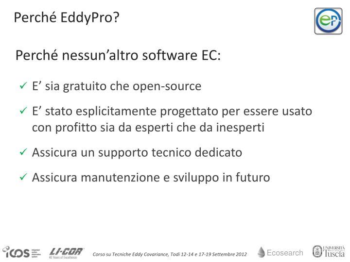Perché EddyPro?