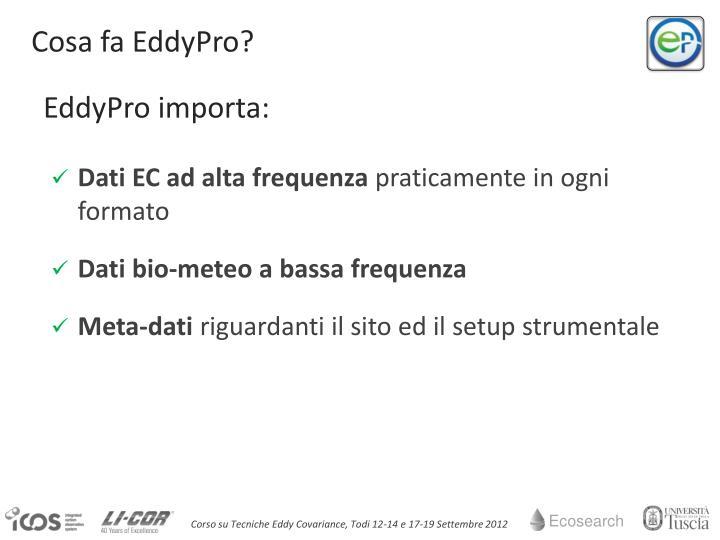 Cosa fa EddyPro?