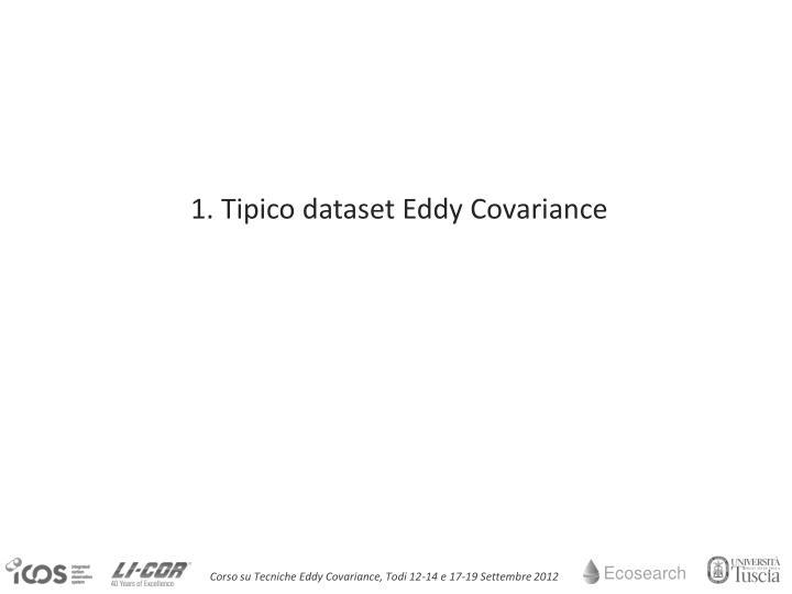 1. Tipico dataset Eddy Covariance