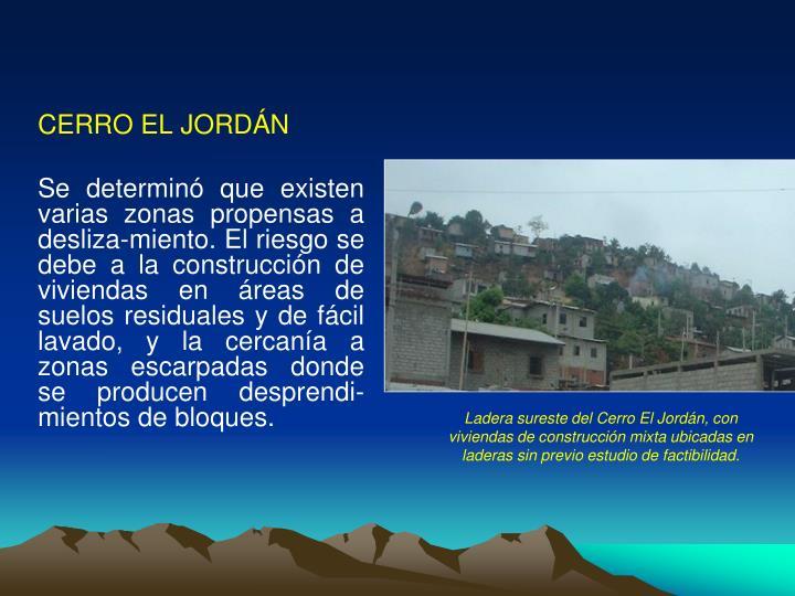 CERRO EL JORDÁN