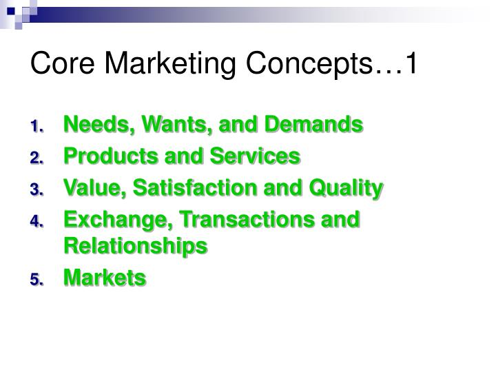 Core Marketing Concepts…1